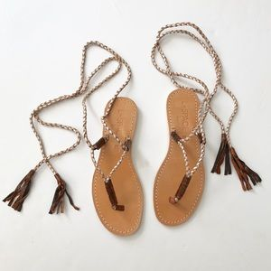 L*Space by Cocobelle Gili Ankle Wrap Braid Sandals
